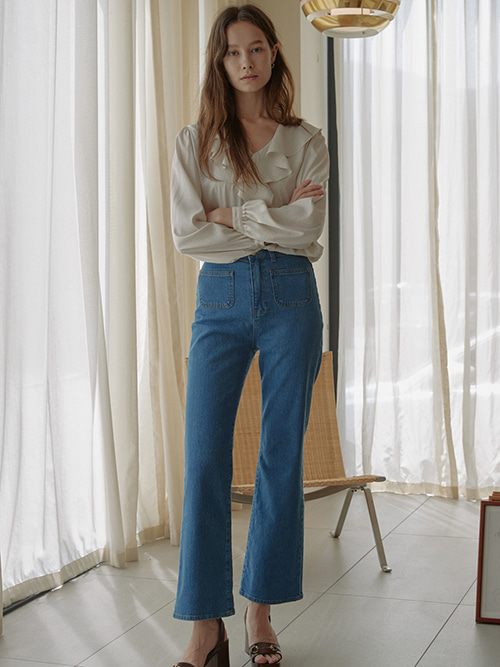 Bell Bottom Pocket Jeans
