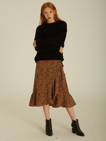 Stella Leopard Ruffled Wrap Skirt