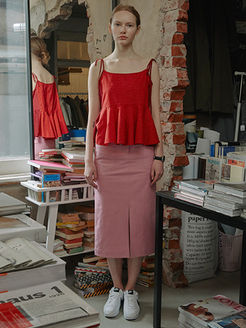 Relaxed Pocket Skirt_Pink
