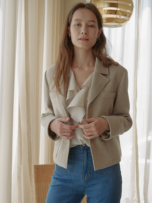 Grace Sand Jacket_Beige