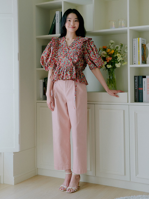 [이시영 착용]Tapered Semi Wide Pants_Pink