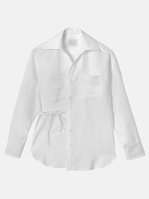 Carrie Unbalance Blouse_White